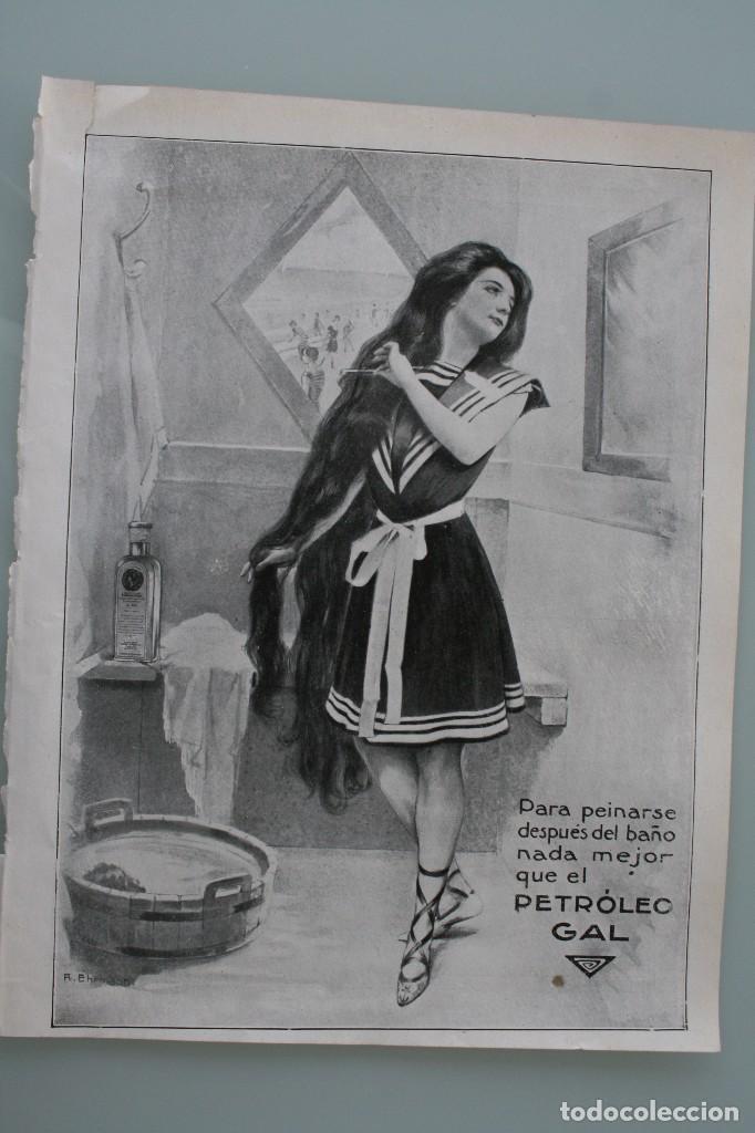 Carteles Publicitarios: 12 PRECIOSOS ANTIGUOS ANUNCIOS PUBLICITARIOS PETROLEO GAL CABELLO AÑO 1915 ORIGINALES NO SON COPIAS - Foto 12 - 104286827