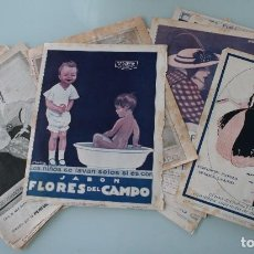 Carteles Publicitarios: 28 ANTIGUOS ANUNCIOS PUBLICITARIOS JABON FLORES DEL CAMPO PERFUMERIA FLORALIA MADRID – AÑO 1915. Lote 104295007