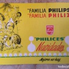Carteles Publicitarios: DISPLAY NAVIDADES PHILIPS 34,5 X 25 CM, FAMILIA PHILIZ. Lote 104848999