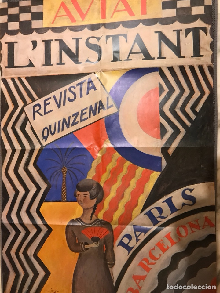 JOAN MIRO (1919) CARTEL. AVIAT - L'INSTANT PARIS/BARCELONA (Coleccionismo - Carteles Gran Formato - Carteles Publicitarios)