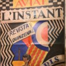 Carteles Publicitarios: JOAN MIRO (1919) CARTEL. AVIAT - L'INSTANT PARIS/BARCELONA. Lote 105099563