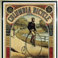 Carteles Publicitarios: BONITO CARTEL DE - COLUMBI BICYCLE- VINTAGE ADVERTISING - POSTER. TAMAÑO: 72 X 55,5 CMS. Lote 135328606