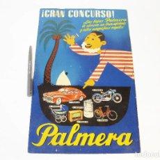 Carteles Publicitarios: CARTEL PUBLICITARIO DE CARTÓN DE HOJAS DE AFEITAR PALMERA. AÑOS 50. Lote 106190303