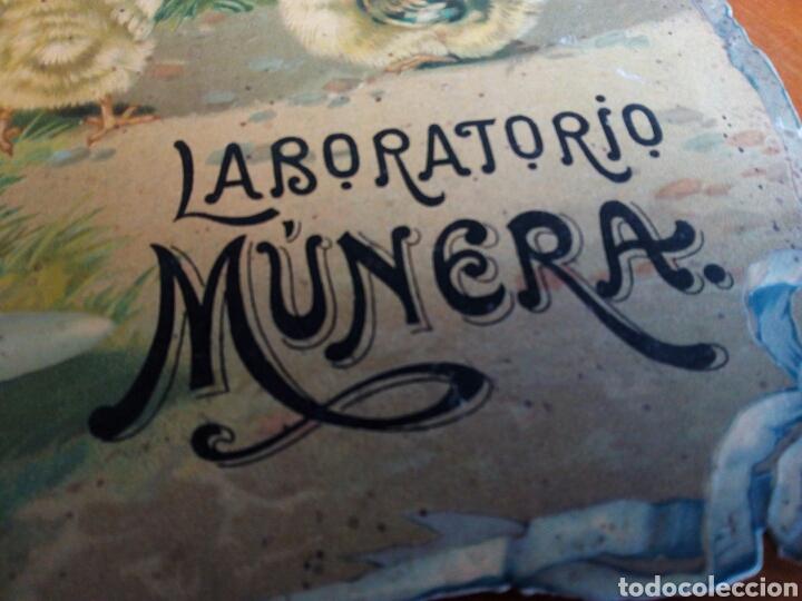 Carteles Publicitarios: Laboratorio Múnera Barcelona. Emulsión. Zarzaparrilla. Licor Brea. Vino de Peptona. Farmacia. - Foto 5 - 106631507