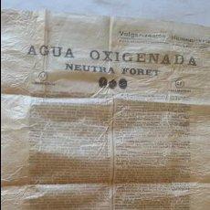 Carteles Publicitarios: CARTEL PUBLICIDAD AGUA OXIGENADA LABORATORIOS FORET. MEDIDA 61 X 42 CM. Lote 107476675