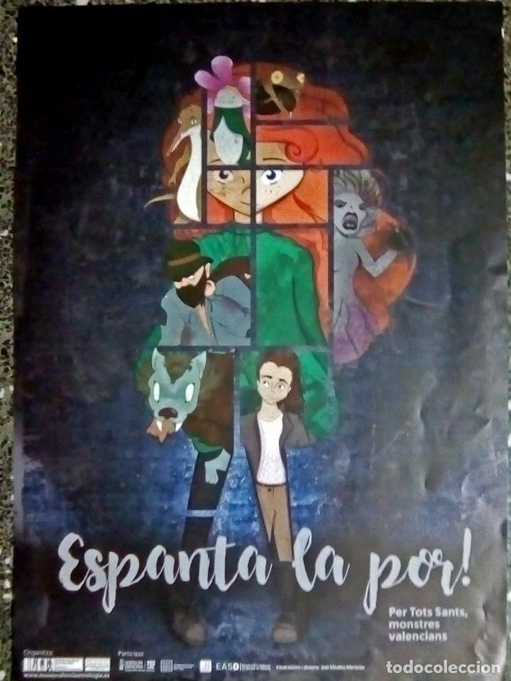 Carteles Publicitarios: CARTEL LITOGRAFIA DE ILUSTRACION DE - JOSE MIRALLES MENESES - ESPANTA LA POR ! DEL MUSEO ETNOLIGICO - Foto 2 - 107614155