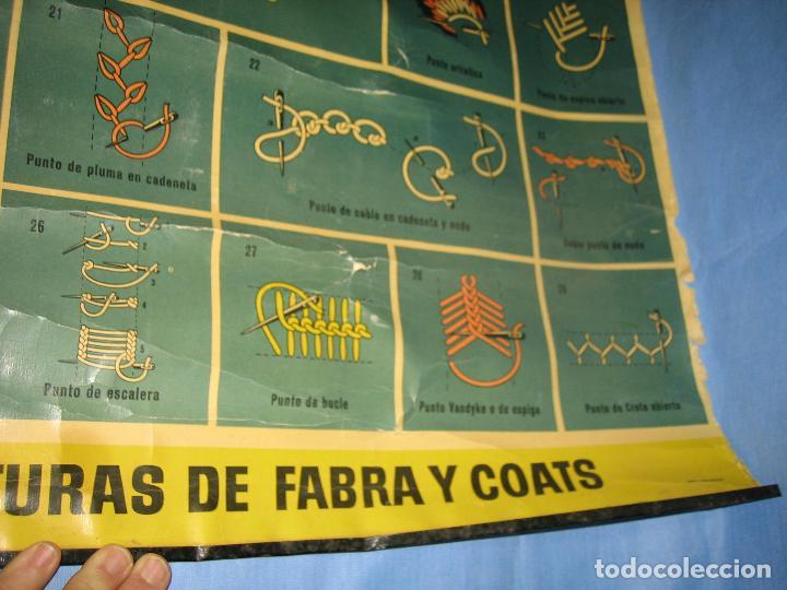 Carteles Publicitarios: Cartel antiguo punto de bordados Ancora 1961. Medidas 65x85 cm - Foto 3 - 108395991