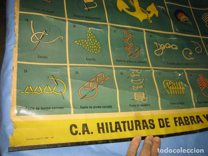 Carteles Publicitarios: Cartel antiguo punto de bordados Ancora 1961. Medidas 65x85 cm - Foto 4 - 108395991