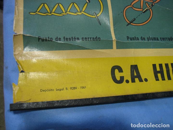 Carteles Publicitarios: Cartel antiguo punto de bordados Ancora 1961. Medidas 65x85 cm - Foto 5 - 108395991