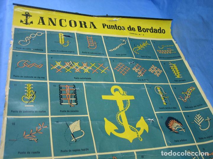 Carteles Publicitarios: Cartel antiguo punto de bordados Ancora 1961. Medidas 65x85 cm - Foto 6 - 108395991