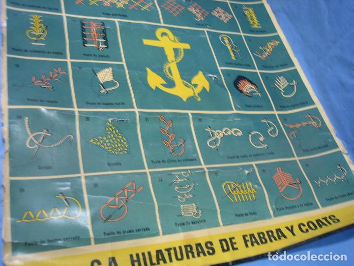 Carteles Publicitarios: Cartel antiguo punto de bordados Ancora 1961. Medidas 65x85 cm - Foto 7 - 108395991