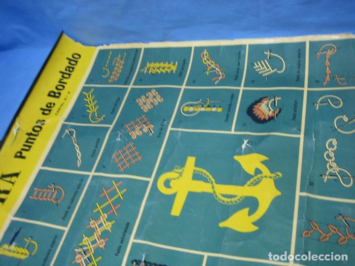 Carteles Publicitarios: Cartel antiguo punto de bordados Ancora 1961. Medidas 65x85 cm - Foto 12 - 108395991