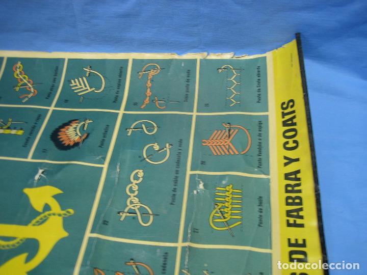 Carteles Publicitarios: Cartel antiguo punto de bordados Ancora 1961. Medidas 65x85 cm - Foto 13 - 108395991