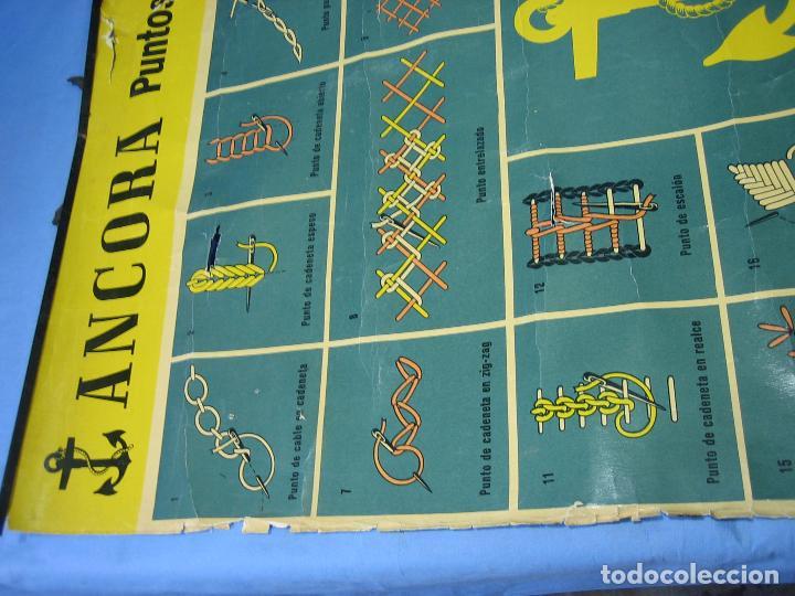 Carteles Publicitarios: Cartel antiguo punto de bordados Ancora 1961. Medidas 65x85 cm - Foto 15 - 108395991