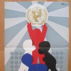 Carteles Publicitarios: CARTEL LOTERIA NACIONAL, 1946-1972, UNICEF, REY PADILLA, . Lote 108683747