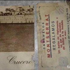 Carteles Publicitarios: 2 ANTIGUOS CARTELES PUBLICIDAD CARAMELOS MONTSERRAT TIENE ROTURA .VER FOTOS. Lote 109421443