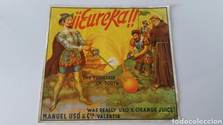 MANUEL USO NARANJAS VALENCIA ETIQUETA / CARTEL PUBLICITARIO NARANJAS (Coleccionismo - Carteles Gran Formato - Carteles Publicitarios)
