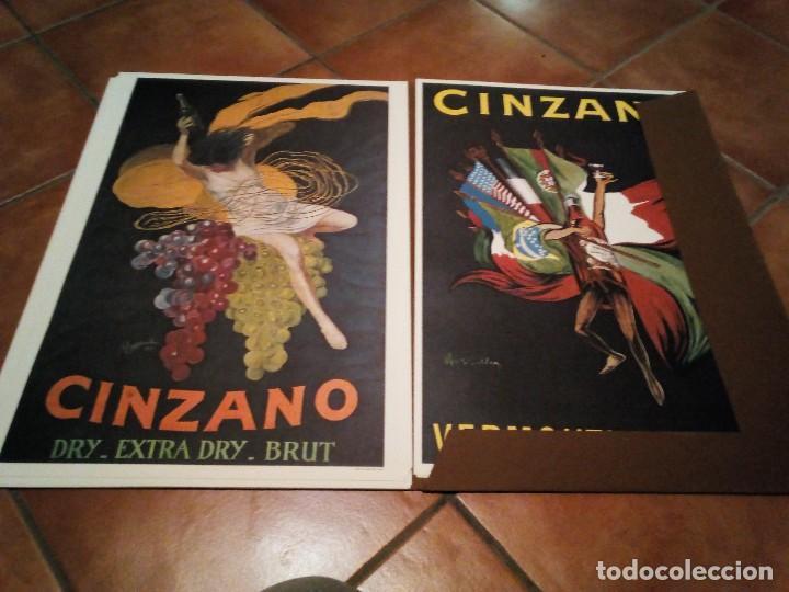 Carteles Publicitarios: Estuche con 5 reproducciones carteles de Epoca Cinzano ( Manifesti d´epoca) Ver 9 fotos - Foto 2 - 110046731