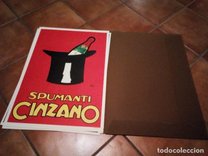 Carteles Publicitarios: Estuche con 5 reproducciones carteles de Epoca Cinzano ( Manifesti d´epoca) Ver 9 fotos - Foto 4 - 110046731