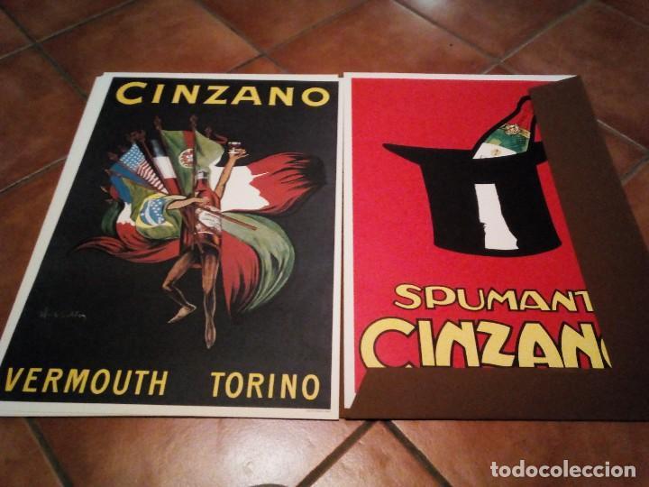 Carteles Publicitarios: Estuche con 5 reproducciones carteles de Epoca Cinzano ( Manifesti d´epoca) Ver 9 fotos - Foto 8 - 110046731
