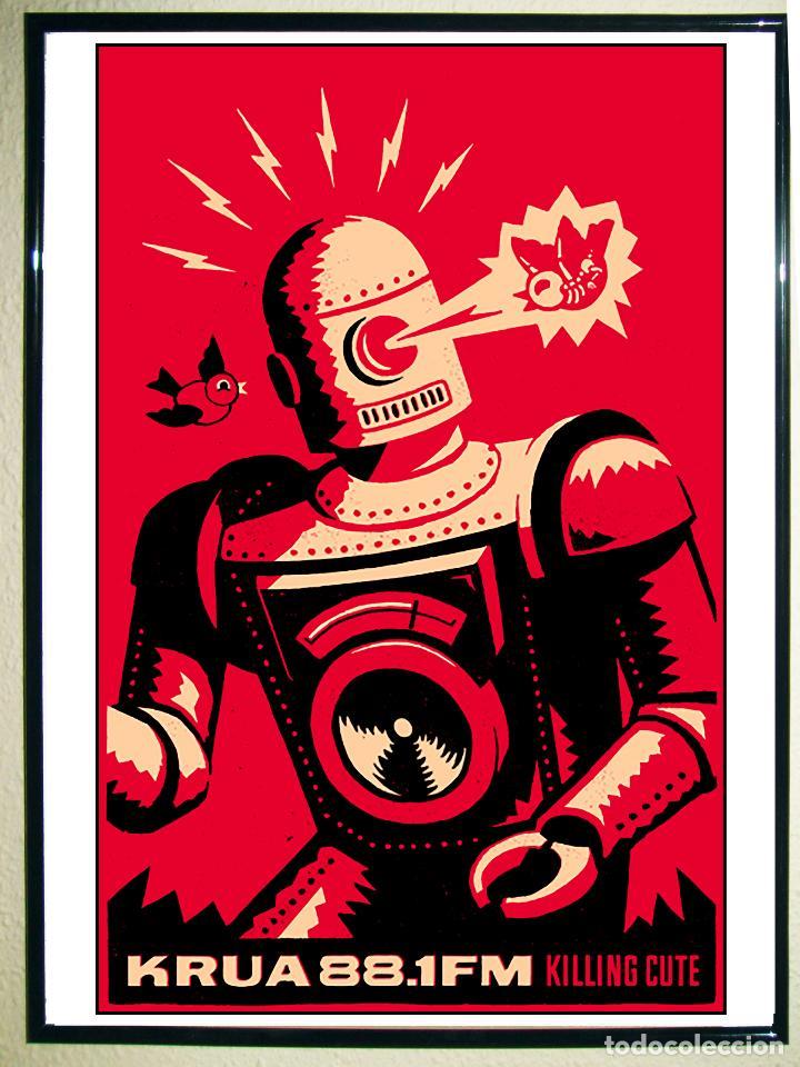 POSTER DE ROBOT RETRO - KILLING CUTE - TAMAÑO 45 X 30,5 CMS. (Coleccionismo - Carteles Gran Formato - Carteles Publicitarios)