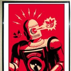 Carteles Publicitarios: POSTER DE ROBOT RETRO - KILLING CUTE - TAMAÑO 45 X 30,5 CMS.. Lote 110679835