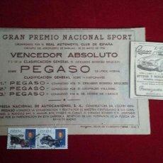 Affiches Publicitaires: PUBLICIDAD PEGASO.. Lote 111016947