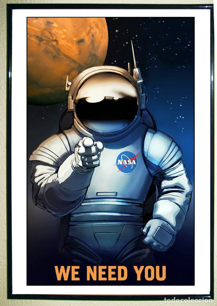 POSTER DE- WE NEED YOU ON MARS.- FROM NASA'S MARS EXPLORERS WANTED COLLECTION. TAMAÑO: 45 X 31,45 CM (Coleccionismo - Carteles Gran Formato - Carteles Publicitarios)