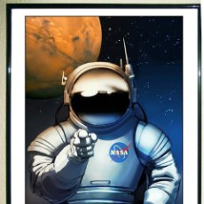 Carteles Publicitarios: POSTER DE- WE NEED YOU ON MARS.- FROM NASA'S MARS EXPLORERS WANTED COLLECTION. TAMAÑO: 45 X 31,45 CM. Lote 111424079