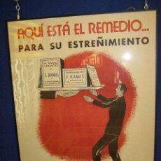 Carteles Publicitarios: CARTEL PLANTAS ANTINERVIOSAS RAMIS AÑOS 40. Lote 112795735