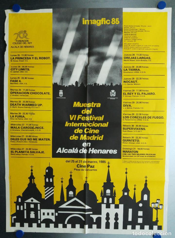 IMAGFIC 85. MUESTRA DEL VI FESTIVAL INTERNACIONAL DE CINE DE MADRID EN ALCALA DE HENARES. CINE PAZ (Coleccionismo - Carteles Gran Formato - Carteles Publicitarios)