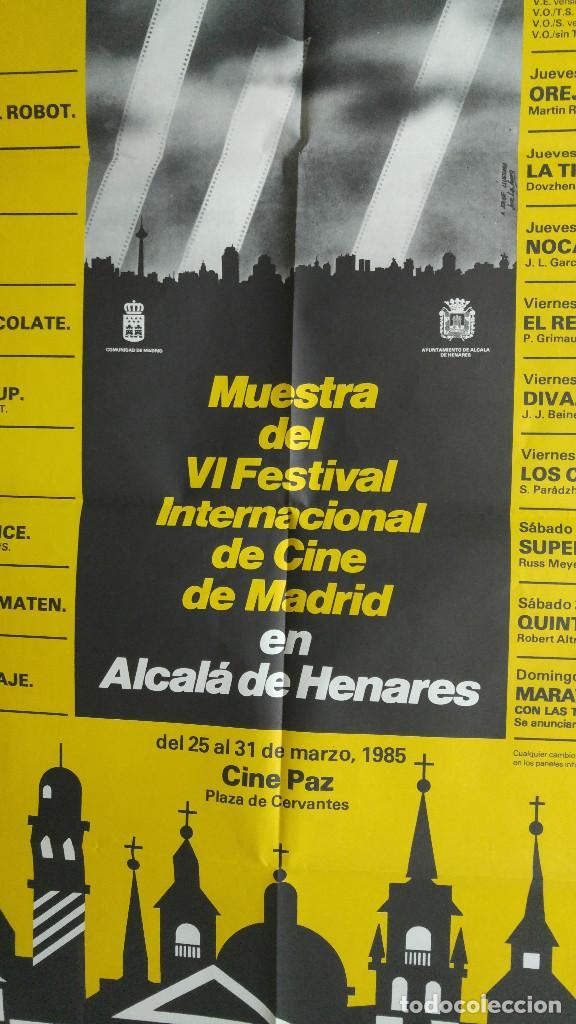 Carteles Publicitarios: IMAGFIC 85. MUESTRA DEL VI FESTIVAL INTERNACIONAL DE CINE DE MADRID EN ALCALA DE HENARES. CINE PAZ - Foto 2 - 113906531