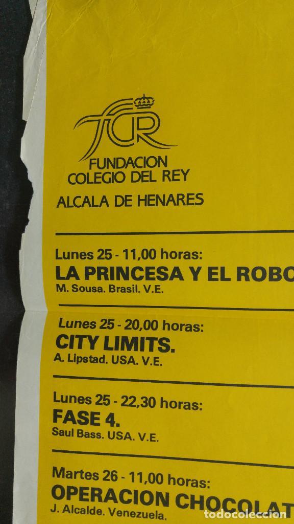 Carteles Publicitarios: IMAGFIC 85. MUESTRA DEL VI FESTIVAL INTERNACIONAL DE CINE DE MADRID EN ALCALA DE HENARES. CINE PAZ - Foto 6 - 113906531