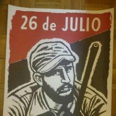 Carteles Publicitarios: CUBA,CARTEL REVOLUCIÓN FIDEL CASTRO,ELADIO RIBADULLA. Lote 178566007