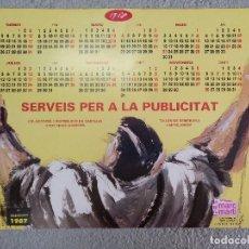 Carteles Publicitarios: CARTEL CALENDARIO SERVEIS A LA PUBLICITTA MARC MARTI 1988 10 ANIVERSARIO DISEÑO AGUSTI ROIG. Lote 114174623