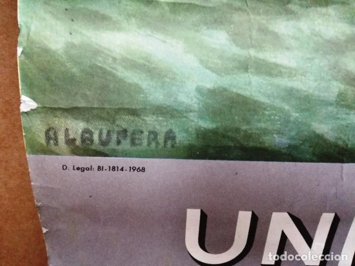 Carteles Publicitarios: UNIÓN ESPAÑOLA DE EXPLOSIVOS .CARTEL ALMANAQUE ORIGINAL AÑO 1969-GRANDE 96X 51 CM - Foto 3 - 114436619