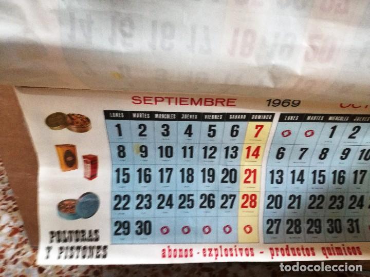 Carteles Publicitarios: UNIÓN ESPAÑOLA DE EXPLOSIVOS .CARTEL ALMANAQUE ORIGINAL AÑO 1969-GRANDE 96X 51 CM - Foto 5 - 114436619