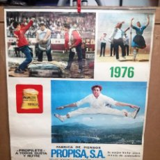 Carteles Publicitarios: GRAN CALENDARIO DE PROPISA SA FABRICA DE PIENSOS DE VITORIA ALAVA.AÑO 1976.48X67 CM. Lote 114463499