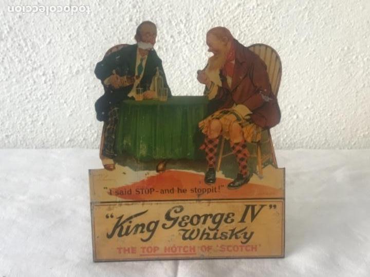 CARTEL PUBLICITARIO LITOGRÁFICO DE KING GEORGE IV WHISKY. VER FOTOS. (Coleccionismo - Carteles Gran Formato - Carteles Publicitarios)
