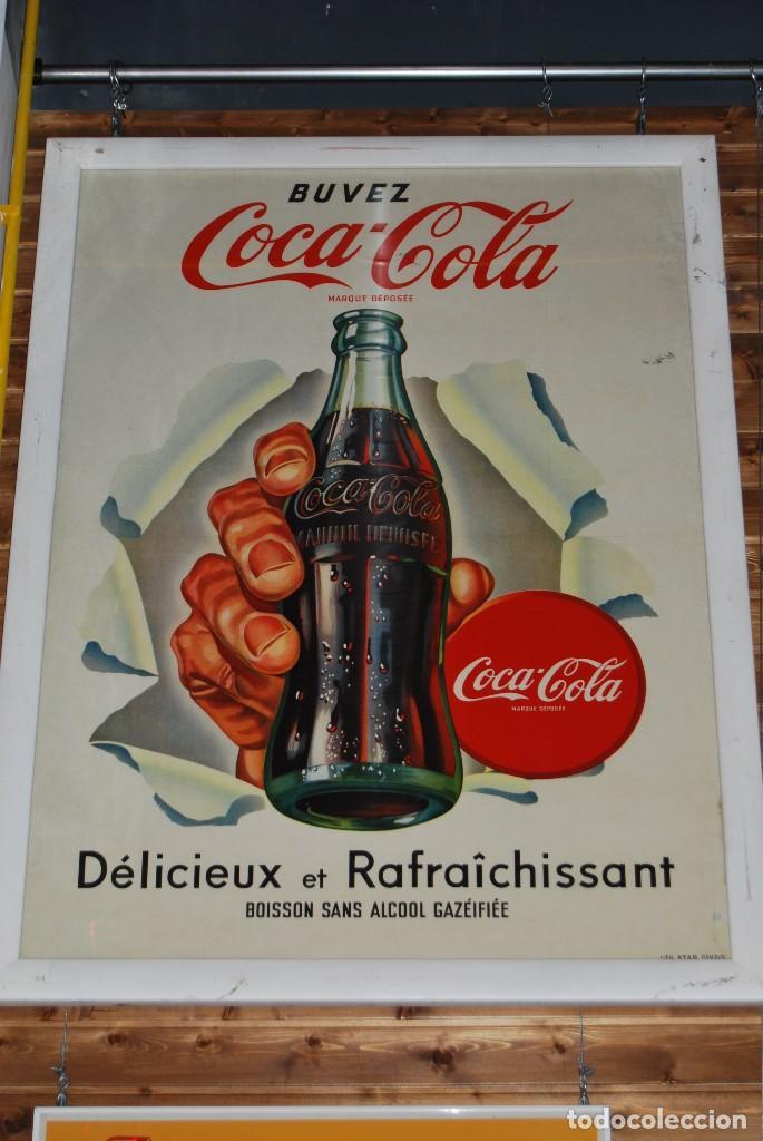 CARTEL COCA-COLA SUIZA. ORIGINAL DE 1960S. GRAN TAMAÑO: 138X98 CMS. ENMARCADO. (Coleccionismo - Carteles Gran Formato - Carteles Publicitarios)