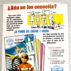 Carteles Publicitarios: CARTEL ANUNCIADOR LA PANDA DEL CUATRO Y MEDIO. EDICIONES BOGA, BILBAO. AÑO 1973. Lote 115773252