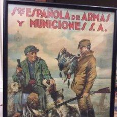 Carteles Publicitarios: CAZA ESPAÑOLA DE ARMAS Y MUNICIONES SA SEAM. Lote 116355319