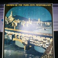 Carteles Publicitarios: FERROCARRILES CHEMINS DE FER PARIS-LYON-MEDITERRANEE. FLORENCE. TRAIN DE LUXE ROME-ESPRESS. 34X24 CM. Lote 116386587