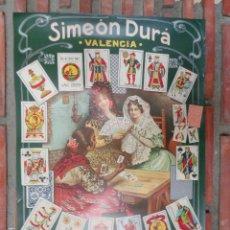 Carteles Publicitarios: SIMEON DURA VALENCIA.FABRICA DE NAIPES DE TODAS CLASES.C-101. Lote 116713071