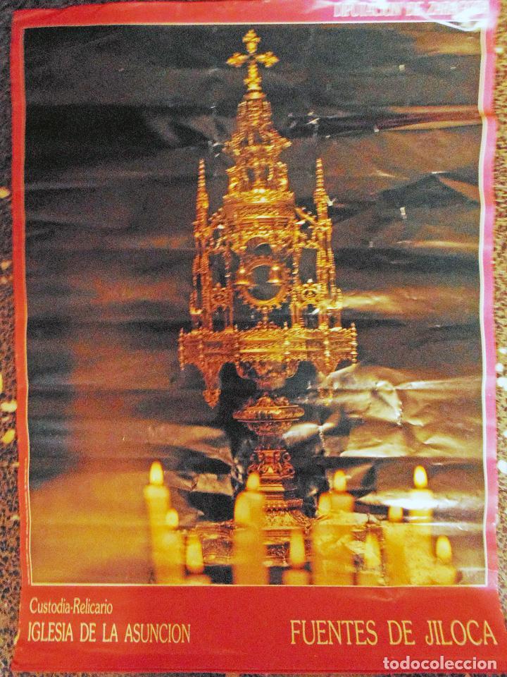 POSTER DE DIPUTACION ZARAGOZA -CUSTODIA RELICARIO , IGLESIA LA ASUNCION- FUENTES DE JILOCA 1988.TAMA (Coleccionismo - Carteles Gran Formato - Carteles Publicitarios)