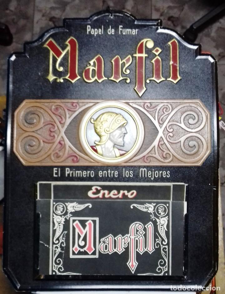 ANTIGUO CALENDARIO PUBLICIDAD PAPEL DE FUMAR MARFIL.ALCOY. PERFECTO ESTADO. (Coleccionismo - Carteles Gran Formato - Carteles Publicitarios)