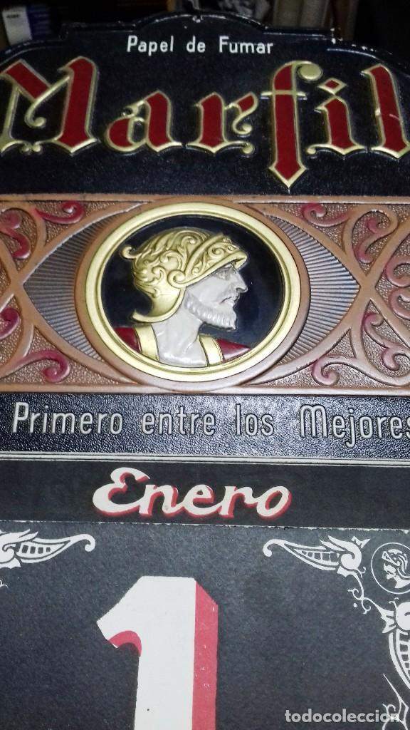 Carteles Publicitarios: ANTIGUO CALENDARIO PUBLICIDAD PAPEL DE FUMAR MARFIL.ALCOY. PERFECTO ESTADO. - Foto 2 - 117169191