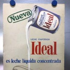 Carteles Publicitarios: CARTEL PUBLICIDAD LECHE EVAPORADA IDEAL - NESTLE - AÑO 1967. Lote 117611900