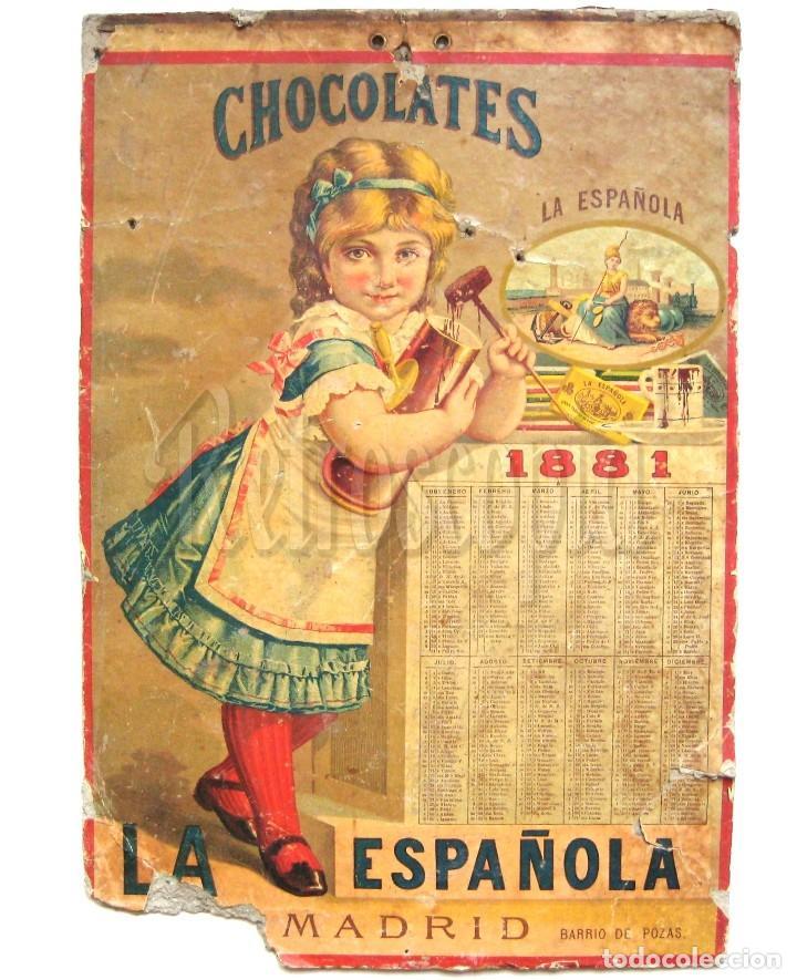 Cartel calendario publicidad chocolates choco comprar carteles antiguos publicitarios en - Carteles publicitarios antiguos ...