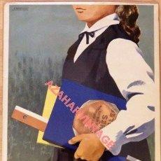 Carteles Publicitarios: BONITO CARTEL DE TORTAS INÉS ROSALES - CASTILLEJA DE LA CUESTA - SEVILLA -FIRMADO F.MARISCAL. Lote 195408596